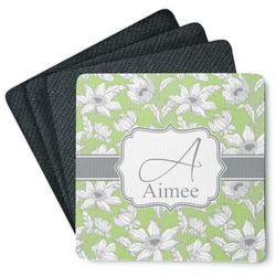 Wild Daisies 4 Square Coasters - Rubber Backed (Personalized)