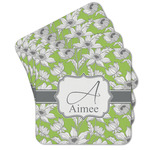 Wild Daisies Cork Coaster - Set of 4 w/ Name and Initial
