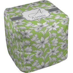 Wild Daisies Cube Pouf Ottoman (Personalized)