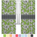 Wild Daisies Curtains (2 Panels Per Set) (Personalized)