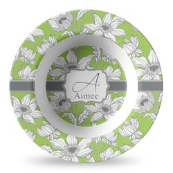 Wild Daisies Plastic Bowl - Microwave Safe - Composite Polymer (Personalized)