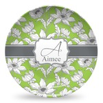 Wild Daisies Microwave Safe Plastic Plate - Composite Polymer (Personalized)