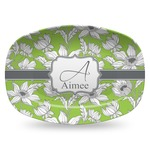 Wild Daisies Plastic Platter - Microwave & Oven Safe Composite Polymer (Personalized)