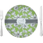 """Wild Daisies Glass Lunch / Dinner Plates 10"""" - Single or Set (Personalized)"""