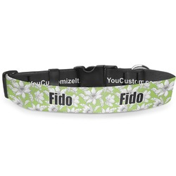 Wild Daisies Deluxe Dog Collar (Personalized)