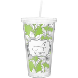 Wild Daisies Double Wall Tumbler with Straw (Personalized)