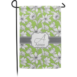 Wild Daisies Garden Flag With Pole (Personalized)