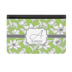 Wild Daisies Genuine Leather ID & Card Wallet - Slim Style (Personalized)