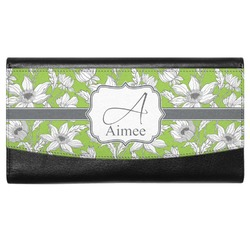 Wild Daisies Genuine Leather Ladies Wallet (Personalized)