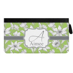 Wild Daisies Genuine Leather Ladies Zippered Wallet (Personalized)