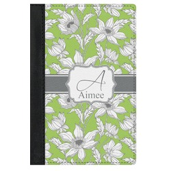 Wild Daisies Genuine Leather Passport Cover (Personalized)