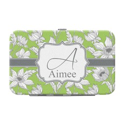 Wild Daisies Genuine Leather Small Framed Wallet (Personalized)