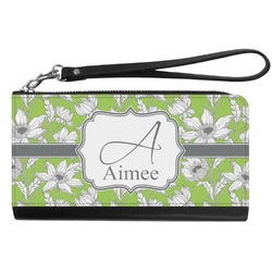 Wild Daisies Genuine Leather Smartphone Wrist Wallet (Personalized)