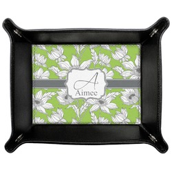 Wild Daisies Genuine Leather Valet Tray (Personalized)
