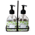 Wild Daisies Soap & Lotion Dispenser Set (Glass) (Personalized)