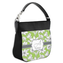 Wild Daisies Hobo Purse w/ Genuine Leather Trim (Personalized)