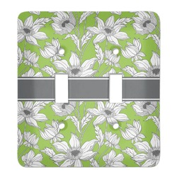 Wild Daisies Light Switch Cover (2 Toggle Plate) (Personalized)
