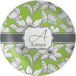"""Wild Daisies Melamine Plate - 8"""" (Personalized)"""