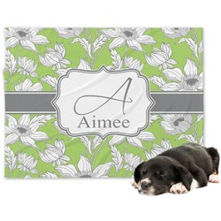 Wild Daisies Minky Dog Blanket - Large  (Personalized)