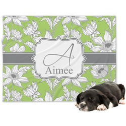 Wild Daisies Minky Dog Blanket (Personalized)