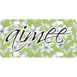 Wild Daisies Mini / Bicycle License Plate (Personalized)