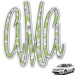 Wild Daisies Monogram Car Decal (Personalized)