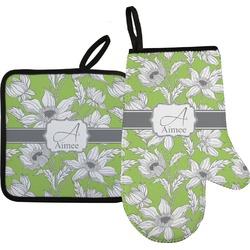 Wild Daisies Oven Mitt & Pot Holder (Personalized)
