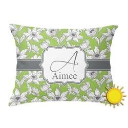 Wild Daisies Outdoor Throw Pillow (Rectangular) (Personalized)