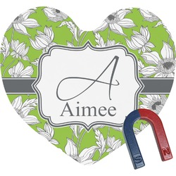 Wild Daisies Heart Fridge Magnet (Personalized)