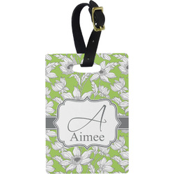 Wild Daisies Rectangular Luggage Tag (Personalized)