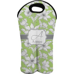 Wild Daisies Wine Tote Bag (2 Bottles) (Personalized)