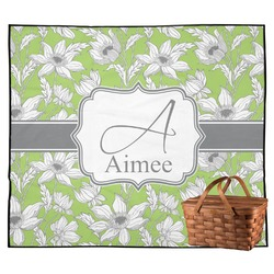 Wild Daisies Outdoor Picnic Blanket (Personalized)