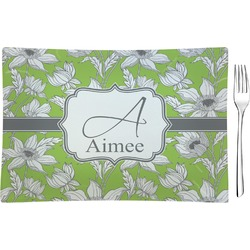 Wild Daisies Rectangular Glass Appetizer / Dessert Plate - Single or Set (Personalized)