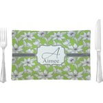 Wild Daisies Glass Rectangular Lunch / Dinner Plate - Single or Set (Personalized)