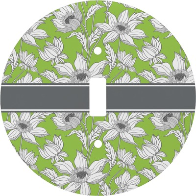 Wild Daisies Round Light Switch Cover (Personalized)