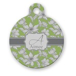 Wild Daisies Round Pet Tag (Personalized)