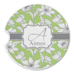 Wild Daisies Sandstone Car Coasters (Personalized)