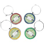 Wild Daisies Wine Charms (Set of 4) (Personalized)