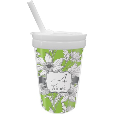 Wild Daisies Sippy Cup with Straw (Personalized)