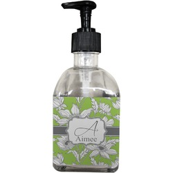 Wild Daisies Soap/Lotion Dispenser (Glass) (Personalized)