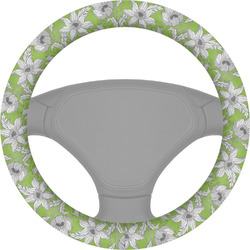 Wild Daisies Steering Wheel Cover (Personalized)