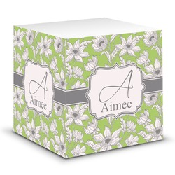 Wild Daisies Sticky Note Cube (Personalized)