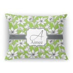 Wild Daisies Rectangular Throw Pillow (Personalized)