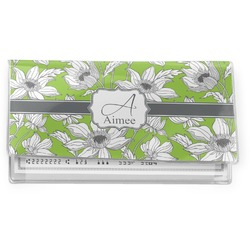 Wild Daisies Vinyl Check Book Cover (Personalized)