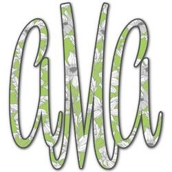 Wild Daisies Monogram Decal - Custom Sized (Personalized)
