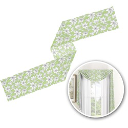 Wild Daisies Window Sheer Scarf Valance (Personalized)
