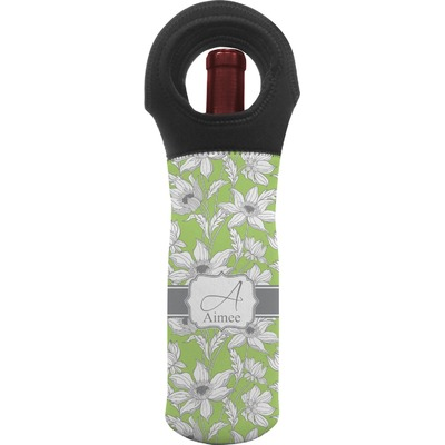 Wild Daisies Wine Tote Bag (Personalized)
