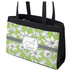 Wild Daisies Zippered Everyday Tote (Personalized)