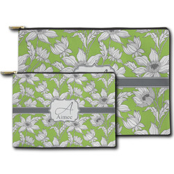 Wild Daisies Zipper Pouch (Personalized)