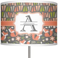 """Fox Trail Floral 13"""" Drum Lamp Shade Polyester (Personalized)"""